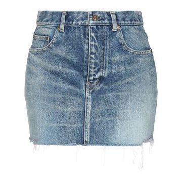 SAINT LAURENT Denim skirt