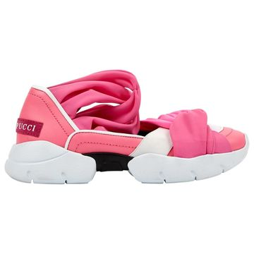 Emilio Pucci Pink Leather Trainers