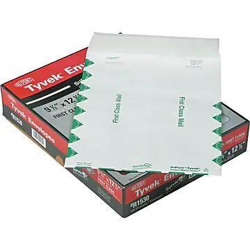 """Quality Park Survivor First Class Self Seal Catalog Envelope, 9 1/2"""" x 12 1/2"""", White, 100/Box (QUAR1530)"""