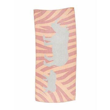Silk Printed Scarf Pink