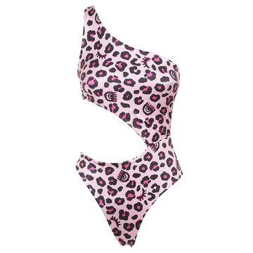 Chiara Ferragni Leopard Cut Out Swimsuit