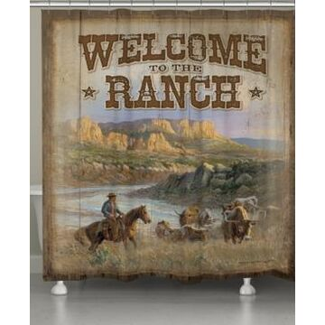 Laural Home Canyon Ranch Shower Curtain Bedding