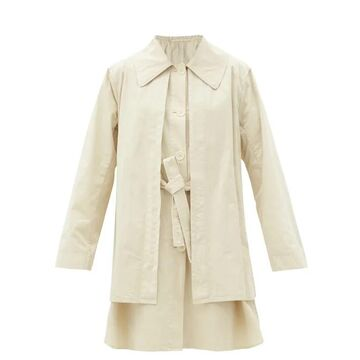 Lemaire - Layered Cotton-ventile Coat - Womens - Cream