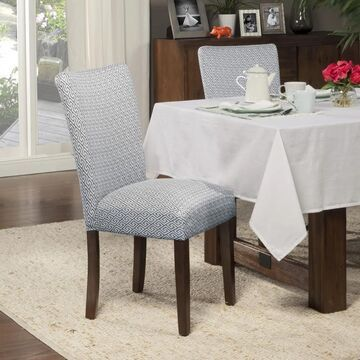 HomePop Blue Shades Parson Chairs (Set of 2) (Set of 2 - Blue - Short)