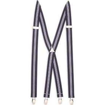 Egara Blue Stripe Clip Suspenders