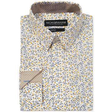 Men's Modern-Fit Floral Shirt