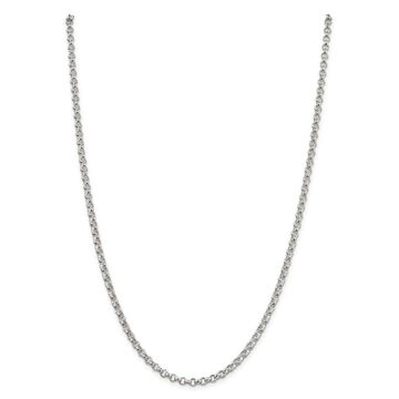 Versil Sterling Silver 4mm Rolo Chain