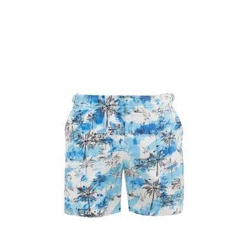 Orlebar Brown - Bulldog Miami Beach-print Swim Shorts - Mens - Blue White
