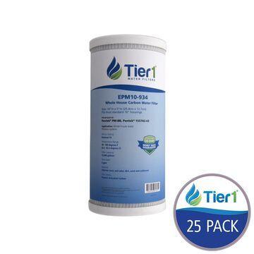 Tier1 EPM-BB 10 Micron 10 x 4.5 Carbon Block Pentek Replacement Water Filter 25 Pack