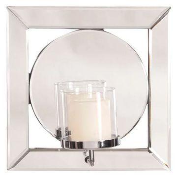 Howard Elliott Lula Square Mirror With Candle Holder