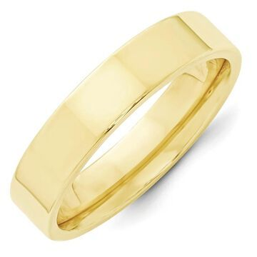 10K Yellow Gold Polished 5mm Standard Flat Comfort Fit Band by Versil