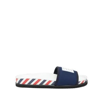Thom Browne - Tricolour Striped Slides - Mens - Navy
