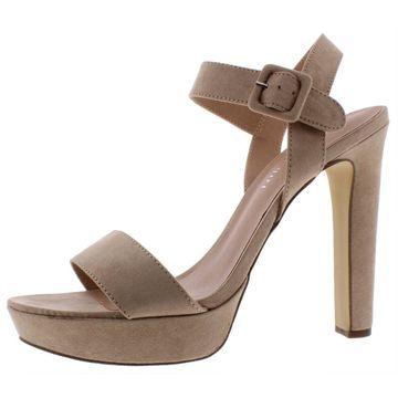 Madden Girl Womens Rolloo Faux Suede Stiletto Platform Sandals
