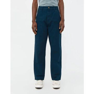 Double Knee Canvas Pant in Duck Blue