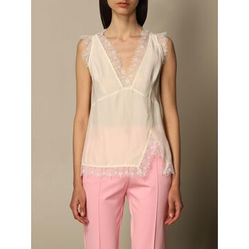 Pinko lingerie top in viscose and lace