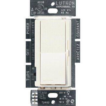 Lutron Diva Single-Pole/3-Way Biscuit LED Rocker Light Dimmer | DVSCCL-253P-BI
