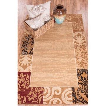 Well Woven Dulcet Ivory Damask Area Rug