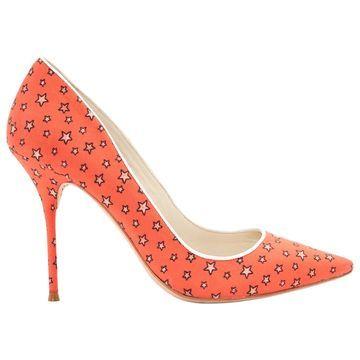Sophia Webster Orange Cloth Heels