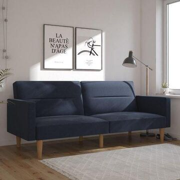 Mainstays Channel Sofa Bed, Navy