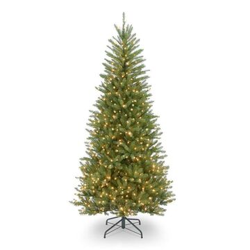National Tree Company 7.5-ft Pre-Lit Slim Artificial Christmas Tree with 600 Constant Incandescent Lights