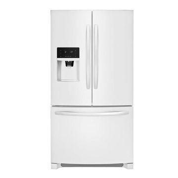Frigidaire 26.8-cu ft 3-Door Standard-Depth French Door Refrigerator with Ice Maker (Fingerprint-Resistant White) ENERGY STAR