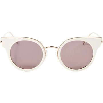 Max Mara Ecru Plastic Sunglasses