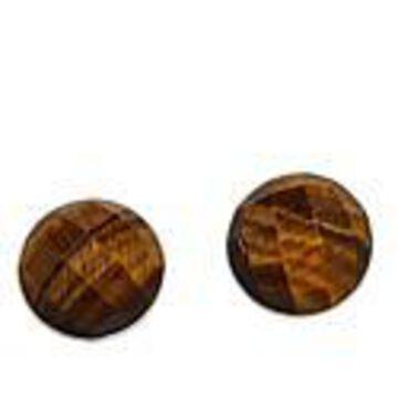 Mine Finds by Jay King Sterling Silver Tiger's Eye Stud Earrings