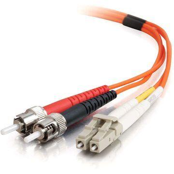C2G-1m LC-ST 50/125 OM2 Duplex Multimode PVC Fiber Optic Cable - Orange - Fiber Optic for Network Device - LC Male - ST Male - 50/125 - Duplex Multimode - OM2 - 1m - Orange