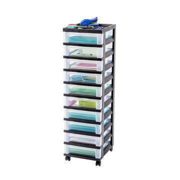 Iris 10-Drawer Cart with Organizer Top