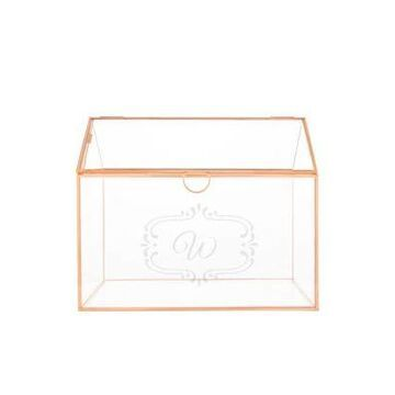Cathy's Concepts Personalized Glass Terrarium Reception Gift Card Holder -
