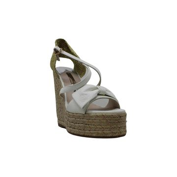 SOPHIA WEBSTER Womens Bonnie Wedge Suede Peep Toe Special Occasion Espadrille Sandals - 6.5