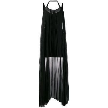 draped-panel mini dress