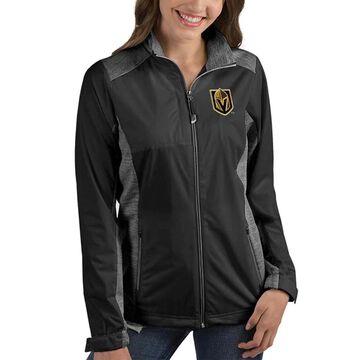 Women's Antigua Black Vegas Golden Knights Revolve Full-Zip Jacket