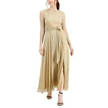 Anne Klein Belted Textured Dress