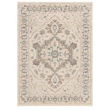 Well Woven Campo Mariah Vintage Oriental Medallion Beige Area rug
