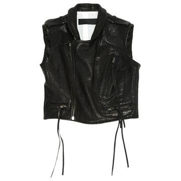 Haider Ackermann Black Leather Jackets