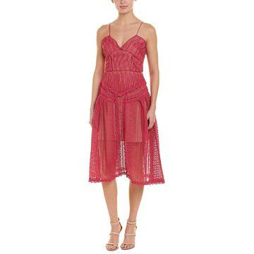 Self-Portrait Womens Midi Dress