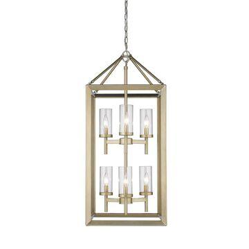 Golden Lighting Smyth 6-Light White Gold Modern/Contemporary Cage Chandelier   2073-6 WG-CLR