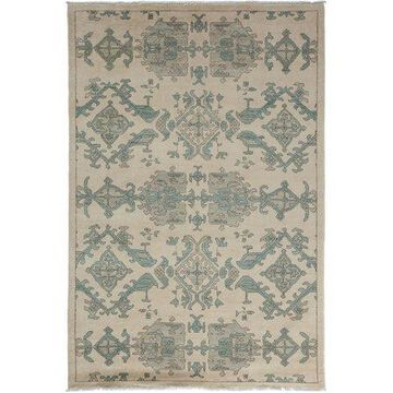 Solo Rugs One-of-a-kind Eclectic Hand-knotted Area Rug 5' x 8'