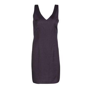 John Galliano Vintage Purple Linen Sleeveless Dress M