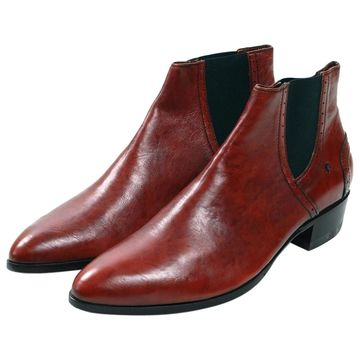 Costume National Red Leather Boots