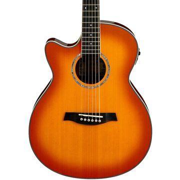 AEG18LII Cutaway Left-Handed Acoustic Electric Guitar Vintage Violin Sunburst