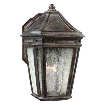 Feiss LED Outdoor Sconce, Weathered Chestnut