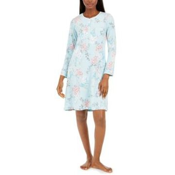 Miss Elaine Women's Brushed Waffle-Knit Nightgown