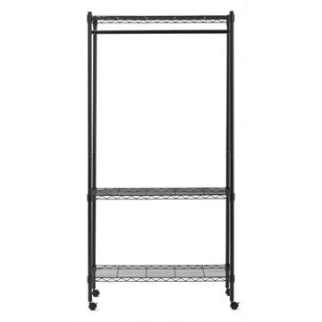 Steel Garment Rack with Wheels