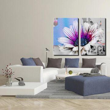 Ready2HangArt 'Painted Petals XCVII' 2-Piece Canvas Wall Art Set