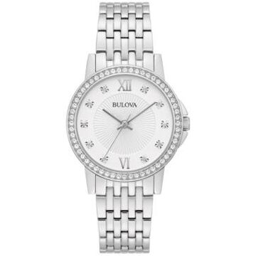 Bulova Women's Stainless Steel Bracelet Watch 32mm