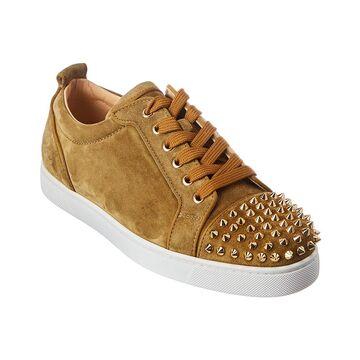 Christian Louboutin Louis Junior Spikes Orlato Suede Sneaker