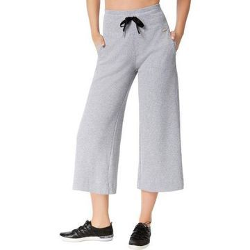 Calvin Klein Performance Womens Thermal Wide Leg Capri Pants