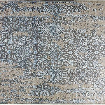 """6'1""""x9'1"""" Transitional Hand-Knotted Rug - Mocha - Solo Rugs - Brown"""